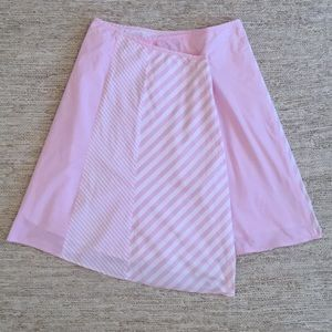 Asymmetrical Pink Striped Skirt